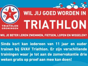 Junioren training bij GVAV Triathlon