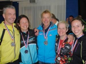 Vijf podiumplaatsen bij Triathloon