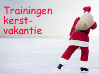 Trainingen tijdens de kerstvakantie