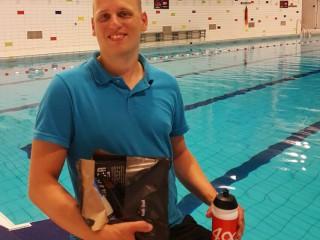 Menno's laatste zwemtraining